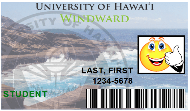 Image of WCC ID badge with sample name and photo.