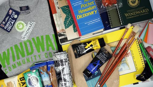 Bookstore supplies, including paint supplies, books, food, clothing, and office supplies.