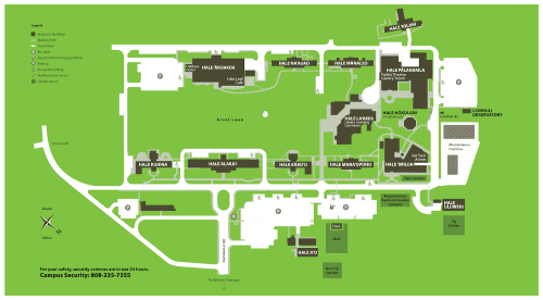 Map of Windward Community College Campus