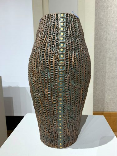 #107 by Christopher Edwards; Ceramic with Gold Luster