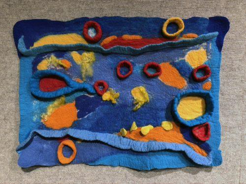 Beneath the Surface by Elizabeth Train; Felted wool