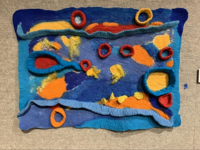 Beneath the Surface by Elizabeth Train; Felted wool