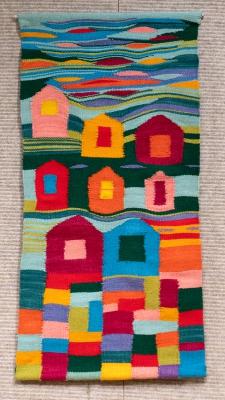 Blocks by Elizabeth Train; Woven Tapestry
