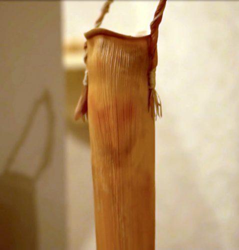 Lālā by Dianne Ige; Palm sheath and bract, raffia