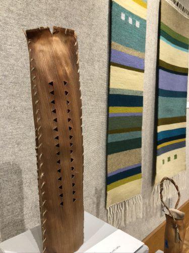 Pu'o'a by Dianne Ige; Palm sheath stitched with raffia