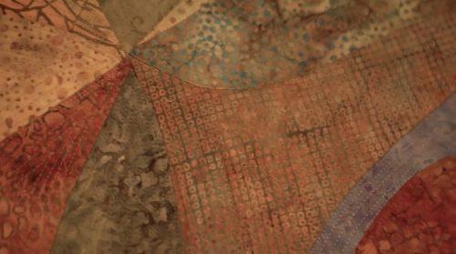 Spin Cycle by Margaret Teruya; Batik fabrics,machine appliquéd, quilted