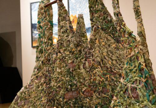 Spirit Mountain by Suzanne Marinelli; Woven sculpture