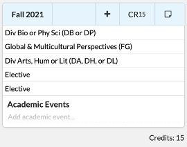 Screenshot from STAR showing example course listing for Fall 2021