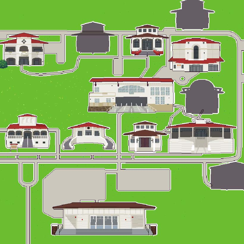 Chicken Chasers digital rendering of WCC campus map